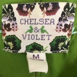 Chelsea & Violet Tops - Chelsea & Violet Green Embroidered Peplum Top - M